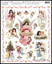 Vintage Gifted Line Victorian Christmas Angels Christmas Grossman Stickers 8x10