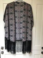 ladies fringed kimono jacket size 8/12 by NEW LOOK