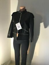 Golden Goose Leather Jacket Authentic Biker Woman's Large Black