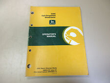 John Deere 2360 Self-Propelled Windrower Operator'S Manual Part # Ome81676