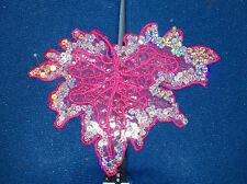 pink leaf sequin embroidery patch lace applique motif dress dance costume