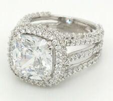 Engagement Rings for Women 14K Gold 2.70Ct Cushion Near White Moissanite Diamond