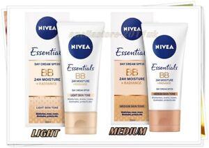 NIVEA BB CREAM Essentials Moisture Radiance SPF 15 / SPF 20 Light & Medium 50 ml