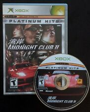 Midnight Club II 2 (Microsoft Xbox, 2003) - box and game
