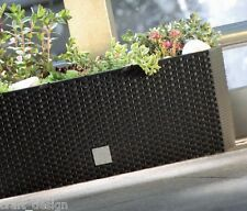 Rattan Case Low Flower Pot Planter Garden Outdoor Indoor 60cm Anthracite RTC500