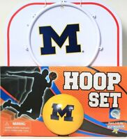 1 Play Monster Michigan Basketball & Hoop Set Play At Home Office Or Anywhere