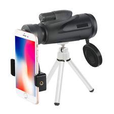 12X50 Zoom Optical HD Lens Monocular Telescope+ Tripod+ Clip For Universal Phone