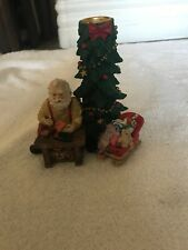 Vintage Santa Claus Candle Holder Holiday Collections