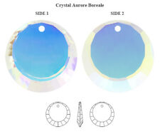 Original SWAROVSKI 6210 Runde Kristalle Anhänger 12mm Crystal AB Farbe