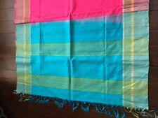 Blue Pink Magenta Pure Soft South Silk Saree Indian Handloom Indian New