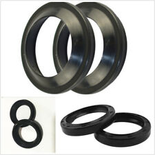 4 Pcs Black Rubber Motorcycles Front Fork Damper Oil Seal&Dust Seals 47x58x11mm