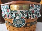 Longaberger 1997 Snowflake Basket / Christmas Collection  #12637
