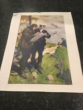 More details for cyrus cuneo ww1 royal navy air service  lithograph john jellicoe  airforce print