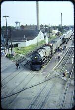 Original OSld Slide CB&Q 5632 Steam 4-8-4 on Fan Special Galesburg IL 6/11/60