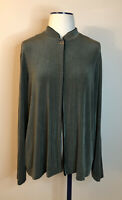 Chico's Travelers Size 2 Open Front Acetate Cardigan Jacket Long Sleeve Large