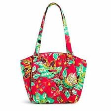 NWT Vera Bradley Glenna cotton quilted Shoulder Bag in Rumba floral print