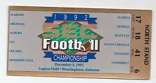 1992 SEC Championship Florida Alabama football ticket stub National Championship