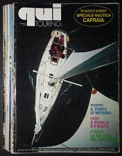 Qui Touring - Rivista mensile TCI - lotto 10 riviste anno 1972 Occasione!