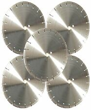 "5PK-16"" LASER WELDED Concrete Brick Paver Bluestone Asphalt Diamond Blade-BEST"