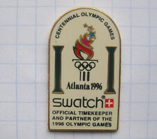 SWATCH / OFFICIAL TIMEKEEPER / ATLANTA 1996 ... Uhr / Clock / Horloge-Pin (164k)