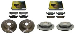 FRONT + REAR BRAKE DISCS + CERAMIC PADS for DODGE RAM1500 02-05 5-STUD WHEELS