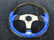 Steering Wheel Blue Black Chrome from JDM Daihatsu Mira Cuore L700S 1998~2002