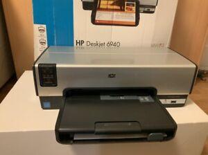 HP Deskjet 6940 Printer NETWORK & PWR W-LAN Netzwerk Drucker Farbdruck