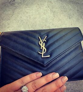 YSL Envelope Chain Wallet With Receipt RRP $1880