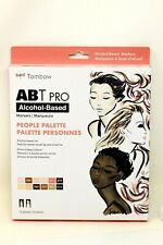 New Tombow ABT Pro People Palette Markers, Alcohol Based, 12