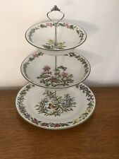 Royal Worcester Vintage China Three Tier Sweet / Nibbles Stand - Herbs