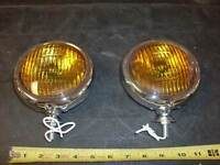 VINTAGE FOG LIGHTS  5 INCH  OLD SCHOOL STYLE FOR CARS AND TRUCKS 1 PAIR NEW