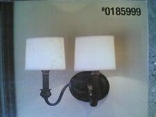NIB: Classy 2-Lite Bathroom Vanity or Wall Light (Oil-Rubbed Dark Bronze Finish)