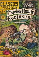 Classics Illustrated Comic Book #42 Swiss Family Robinson HRN 42 Ed #1 VERY GOOD