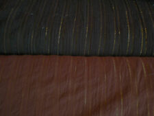 BROWN WITH GOLD METALLIC  GAUZE FABRIC  BTY
