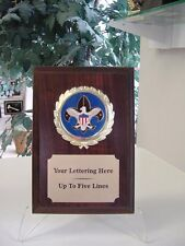 BOY SCOUT TROPHY AWARD PLAQUE FREE ENGRAVING NEW COLOR