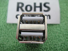 3PCS USB 4-pin 2.0 Port Jack A Female,Dual Stacked PCB for Wii HP DELL ACER US14