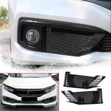 For Honda Civic 2019-2020 4-Door Carbon fiber style Front fog lights panel trim