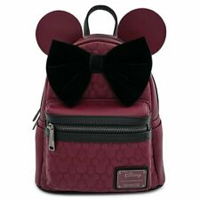 Minnie Mouse Quilted Mini Backpack Disney Loungefly