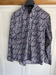 Men's Ben Sherman Shirt Long Sleeved Rare Paisley Pattern Mod Retro Vintage
