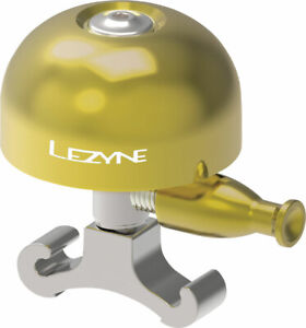 Lezyne Classic Brass Bell: O-Ring Mount, Medium, Brass/Silver
