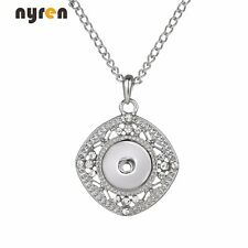 New 18mm Snap Pendant Necklace Multi Styles Fit 18-20mm Snaps Snap Jewelry