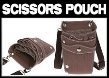 Hairdressers Brown Holster/Pouch For Hair Scissors  Hold up to *  7 SCISSORS  *