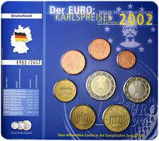 ALEMANIA 2002. CARTERA CON LA  SERIE COMPLETA EUROS. KARLSPREISES. 3,88€