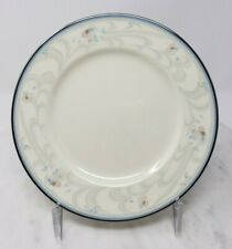 Noritake Evermore Bread & Butter Plates Floral Band Blue Gray Pink Lot of 4