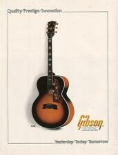 Gibson J-200 guitar 1980 Ad- quality prestige innovation/yesterday today ..