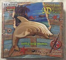 Seven Seas 3D Wooden Puzzle Bottle Nose Dolphin Built & Rebuild