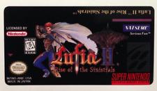 Lufia 2 II SNES Cartridge Replacement Game Label Sticker Precut