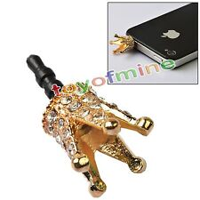 Anti Dust Earphone Jack Plug Korea Hot iphone Dust Plug  Diamond Cute Crown