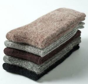 5 Pairs Luxury Angora 100% Wool Cashmere Socks Mens Warm Comf  Winter Pure 7-10