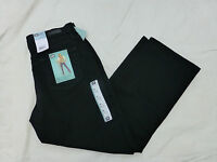 NWT WOMENS LEE PETITE RELAXED FIT STRAIGHT LEG STRETCH JEANS 305180D BLACK